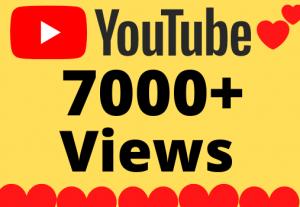 I will Add 7000+ HQ & Non Drop YOUTUBE views