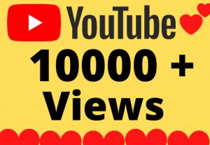 I will Add 10000+ HQ & Non Drop YOUTUBE views