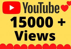 I will Add 15000+ HQ & Non Drop YOUTUBE views