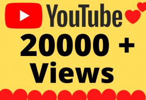 I will Add 20000+ HQ & Non Drop YOUTUBE views