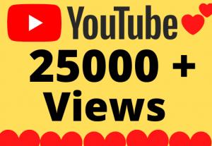 I will Add 25000+ HQ & Non Drop YOUTUBE views