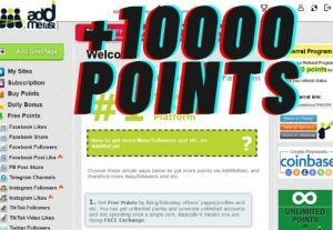 Give you an Addmefast account with free 10000 points