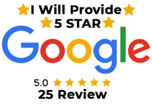 I will provide 25 Five Star review