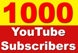 1000+ Real YouTube Subscribers Non Drop Guaranteed only $17
