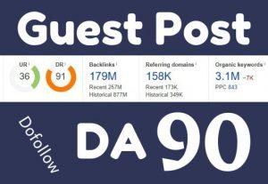 RANK BETTER with 10 quality SEO high DA70 guest post manually written.