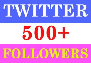 500+ TWITTER FOLLOWERS ORGANIC REAL ACTIVE AND NON DROP GUARANTEED (INSTANT START)