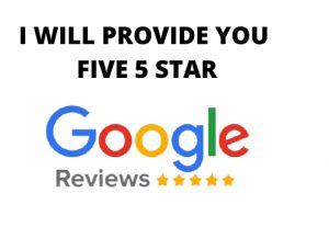 I will provide you five 5 star google reviews