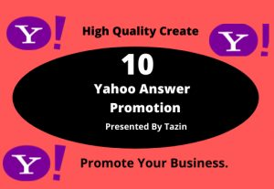 I will do 5 Yahoo Answers Promotion by using Level 3 account