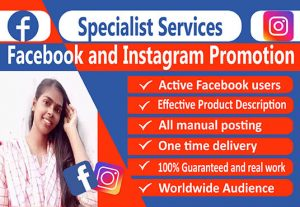 I will do Facebook and Instagram Promotion for your business