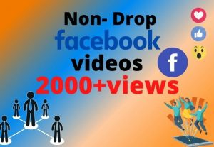 I will provide 2000+ Facebook real videos views