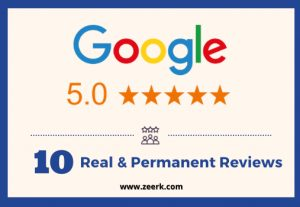 I will give you 10 real & permanent google reviews