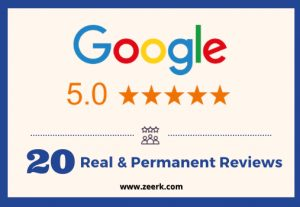 I will give you 20 real & permanent google reviews