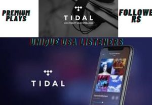 TIDAL promotion plays, unique listeners artiste followers songs like HQ non-drop guaranteed for life