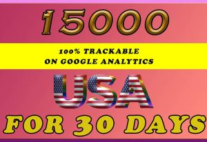 Drive 15,000+ USA Real Human Traffic. Limited Time Offer Grab It Now for $7