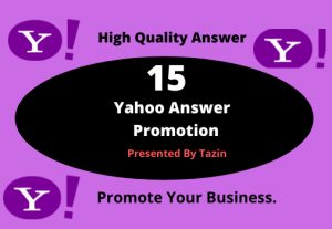 Do 15 Yahoo Answers Promotion by using Level 3 account