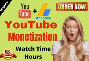 500+ Hour Youtube Watch Time ,Life Time Guranteed