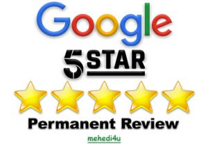 I will give you 15 permanent google review for life time