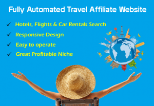 Fully automated travel booking affiliate website for income source