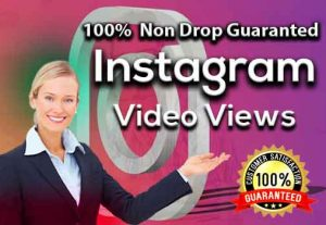 Instant 5,000+ Instagram video views USA,100% Non drop Guaranteed (Instant Start)