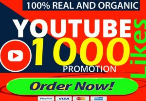 Non-Drop 1000+ Youtube Likes, 10 Subscribers, 10 Comments 10 Views  Life Time Guaranteed