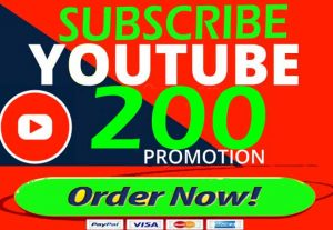 Non-Drop Youtube Subscribers 200+ 10 Likes, 10 Comments,10 Views  Life-Time Guaranteed