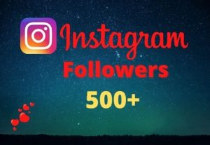 Get 500+ Instagram Followers Instant, lifetime guaranteed, Non-drop, and active user
