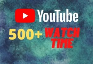 provide you 500+ YouTube watch time