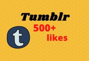 Get 500+ high quality, non-drop Tumblr likes