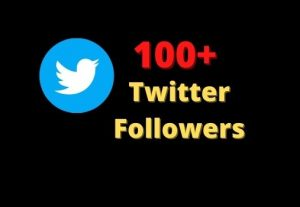 100+ Twitter Followers Non-Drop And High Quality