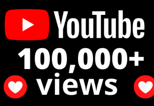 I will add 100000+ YouTube views OR 100k VIEWS
