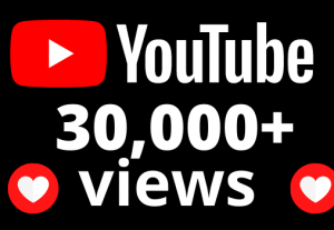 I will add 30,000+ YouTube views OR 30k VIEWS