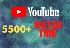 provide you 5500+ YouTube watch time