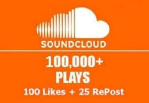 100k SoundCloud music play fast delivery