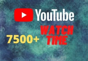 provide you 7500+ YouTube watch time.