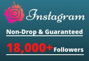 I will Provide 18,000+ Non-Drop & Guaranteed Instagram Followers