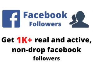 Get 1000+ real and active, non-drop Facebook followers