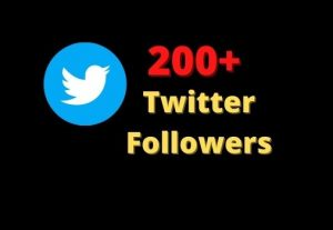 200+ Twitter Followers Non-Drop And High Quality