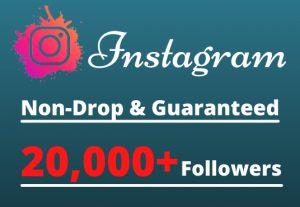 I will Provide 20,000+ Non-Drop & Guaranteed Instagram Followers