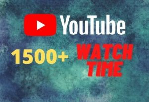 provide you 1500+ YouTube watch time