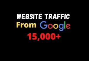 I will provide you 15000+ website traffic from google