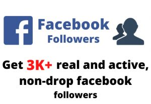 Get 3000+ real and active, non-drop Facebook followers