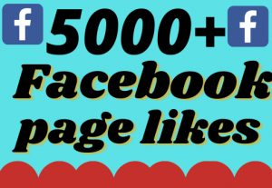 I will add 5000+ real and organic Facebook page likes