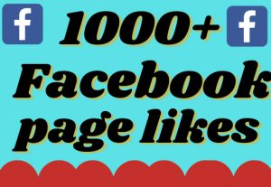 I will add 1000+ real and organic Facebook page likes