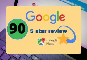 I will provide 90 permanent 5 star google reviews