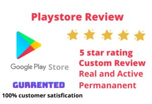 YOU WILL GET 50 FIVE STAR RATING APP RELETED REVIEW AND CUSTOM RATING