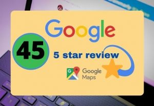 I will provide 45 permanent 5 star google reviews