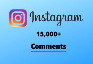 I will send you 15,000+ Instagram Random Comments