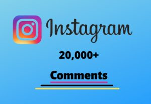 I will send you 20,000+ Instagram Random Comments