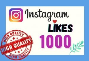 I will provide Instant 1K real likes in your Instagram post