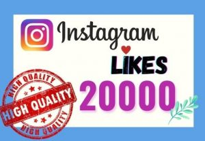 I will provide Instant 20K real likes in your Instagram post